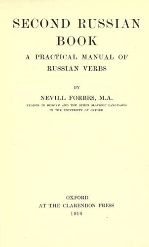 Second Russian book by Nevill Forbes