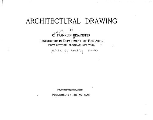 Architectural drawing by Clothier Franklin Edminster