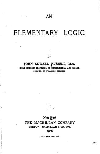 An elementary logic by Russell, John Edward
