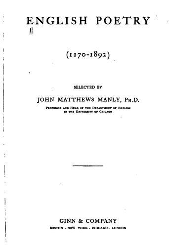English poetry (1170-1892)