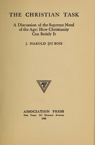 The Christian task by John Harold Du Bois