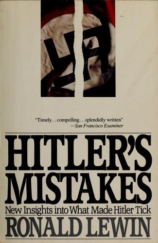 Hitler's mistakes