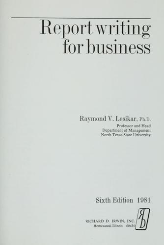 Report writing for business