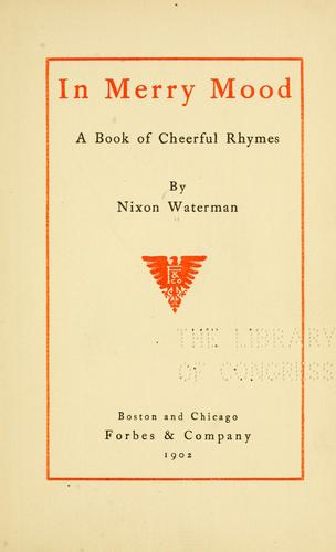 In merry mood by Waterman, Nixon