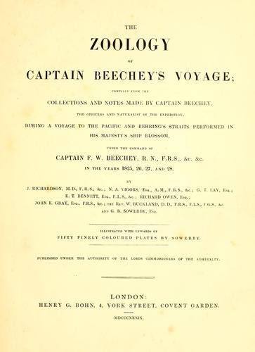 The zoology of Captain Beechey's voyage by Frederick William Beechey