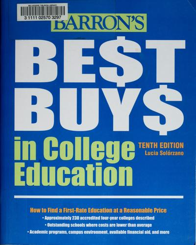 Barron's Best Buys in College Education by Lucia Solórzano