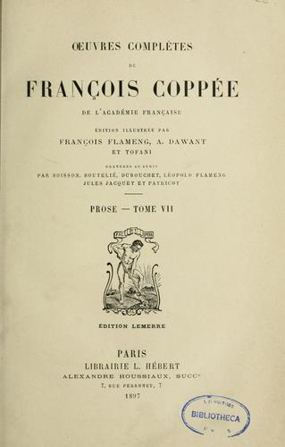 Prose by François Coppée
