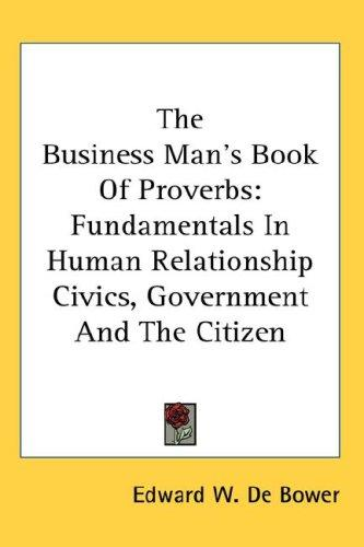 The Business Man's Book Of Proverbs