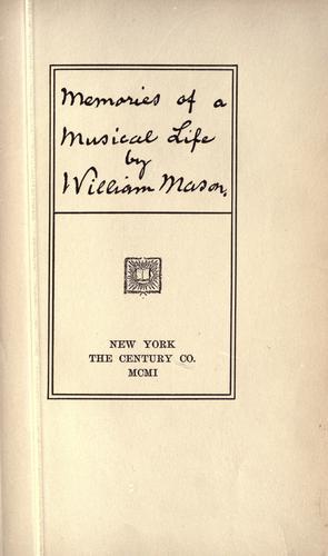 Memories of a musical life.