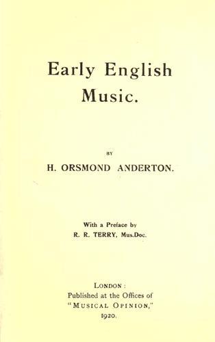 Early English music.