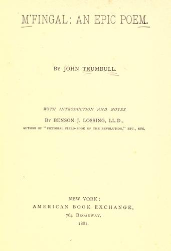 M'Fingal by Trumbull, John