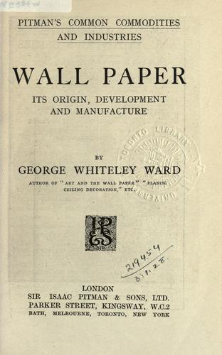 Wall paper by George Whiteley Ward