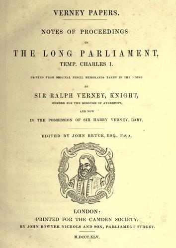 Verney papers.