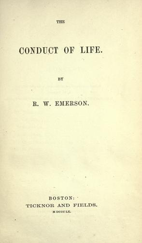 The conduct of life.