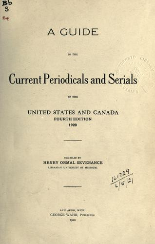 A guide to the current periodicals and serials of the United States and Canada.