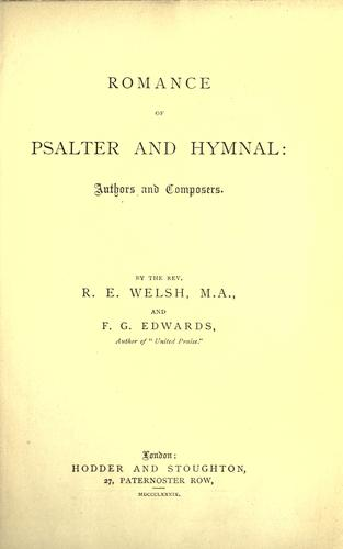 Romance of psalter and hymnal by
