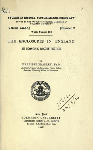 The enclosures in England by Bradley, Harriett.