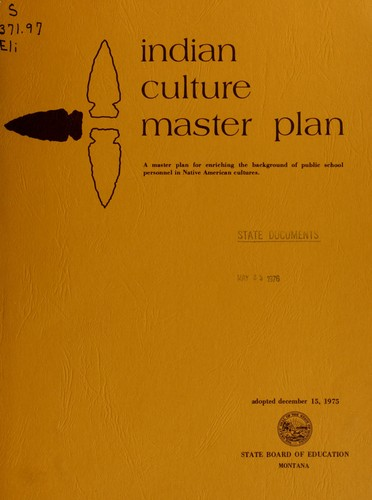 Indian culture master plan by Montana. Joint Curriculum Committee.