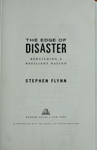 The edge of disaster by Stephen E. Flynn