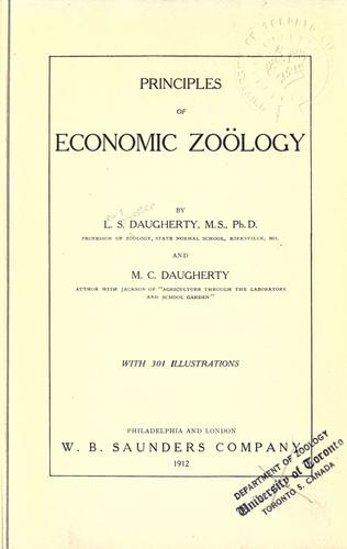 Principles of economic zoölogy by Lewis Sylvester Daugherty