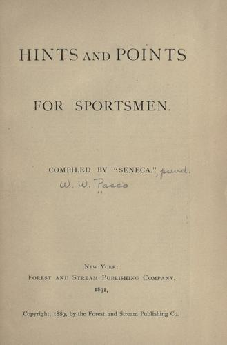 Hints and points for sportsmen by H. H. Soulé