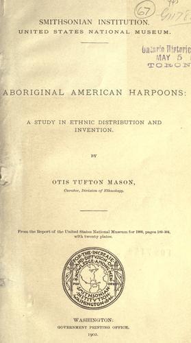 Aboriginal American harpoons