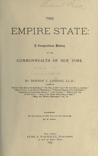 The Empire State by Benson John Lossing