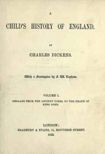 A child's history of England.
