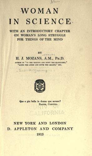 Woman in science by John Augustine Zahm