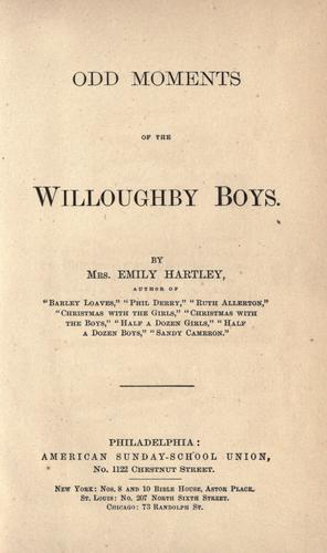 Odd moments of the Willoughby boys