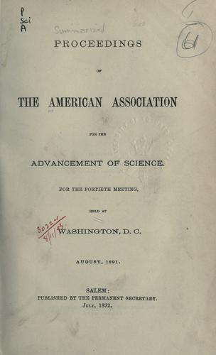 Summarized proceedings by American Association for the Advancement of Science.