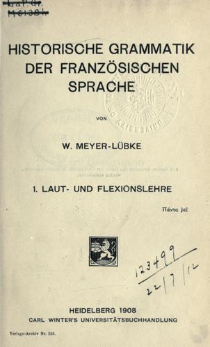 Historische Grammatik der französischen Sprache