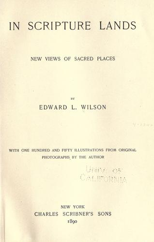 In Scripture lands by Wilson, Edward L.