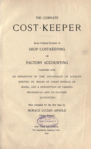 The complete cost-keeper