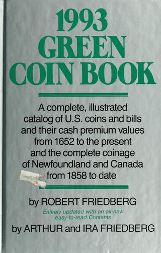 1993 green coin book by Robert Friedberg