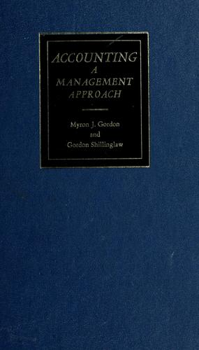 Accounting by Myron J. Gordon