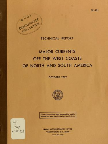 Major currents off the west coasts of North and South America by William E. Boisvert