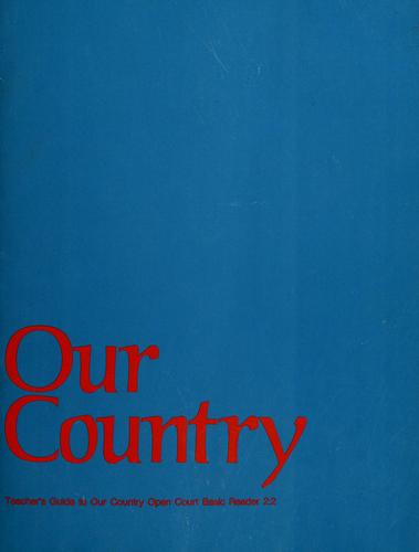 Teacher's guide to our country by Marianne Carus