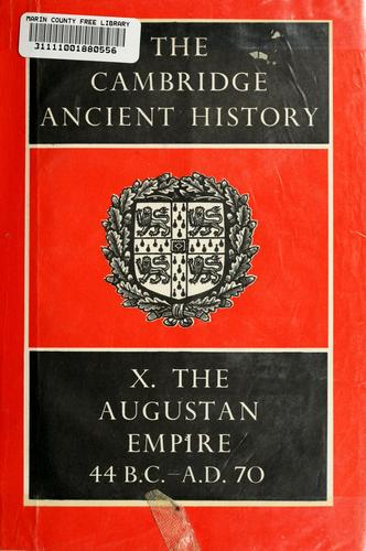 The Cambridge ancient history by Cook, Stanley Arthur