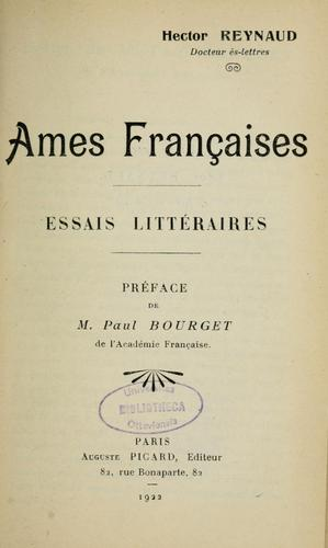 Ames françaises by Hector Reynaud