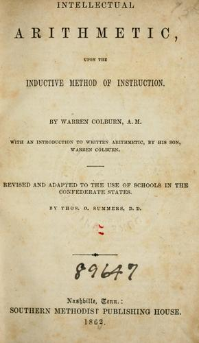 Intellectual arithmetic by Warren Colburn