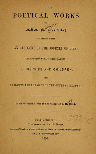 Poetical works of Asa S. Boyd by Asa Shinn Boyd