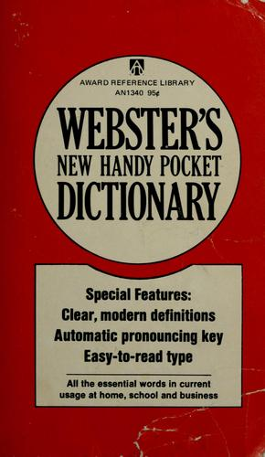 Webster's new handy pocket dictionary by