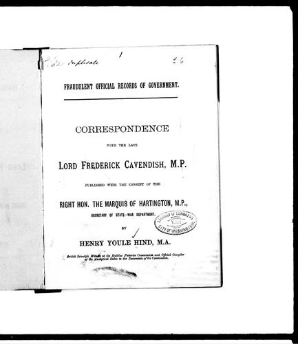 Fraudulent official records of government by Hind, Henry Youle