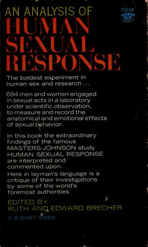 An analysis of human sexual response by Ruth Brecher