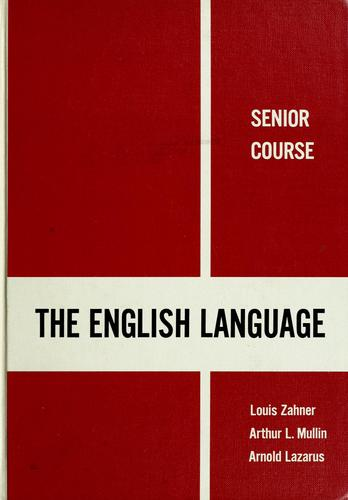 The English language by Louis Zahner