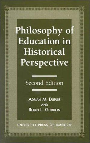 Philosophy of education in historical perspective