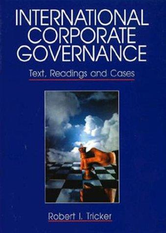 International corporate governance by R. Ian Tricker