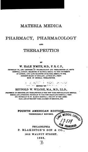 Materia medica, pharmacy, pharmacology, and therapeutics