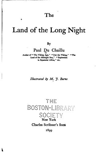 The land of the long night by Paul B. Du Chaillu